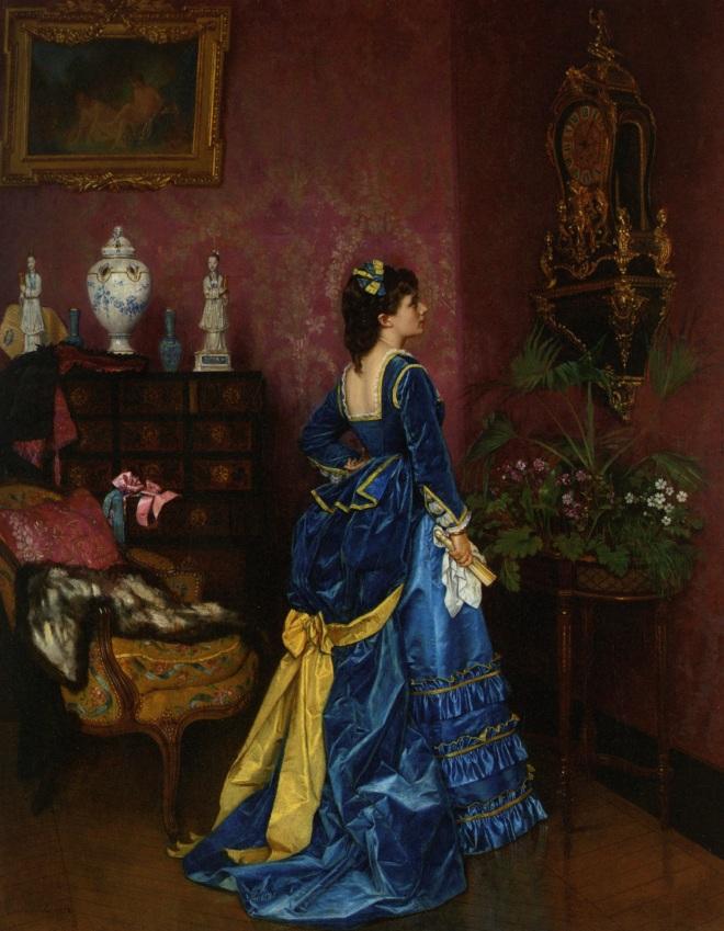 Le Robe Bleu by Auguste Toulmouche, 1870.
