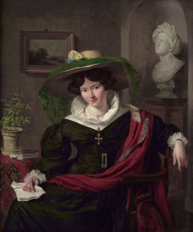 Portrait of Carolina Frederica Kerst by Charles Van Beveren, 1830.
