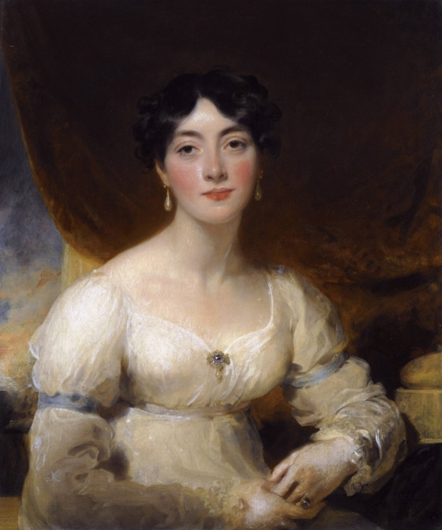 Portrait of Elizabeth, Mrs Horsley Palmer, by Thomas Lawrence, early 19th century.