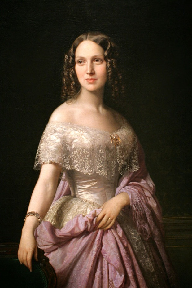 Portrait of Elizabeth Wethered Barringer by Federica de Madrazo, 1852.