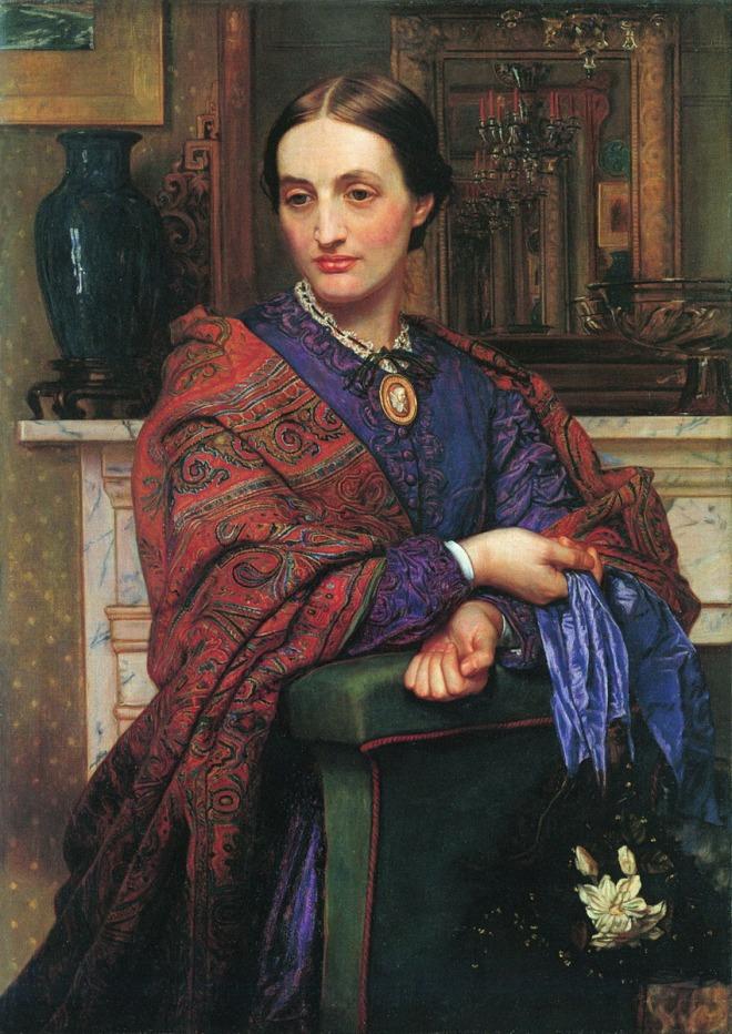 Portrait of Fanny Holman Hunt by William Holman Hunt, 1866-1867.