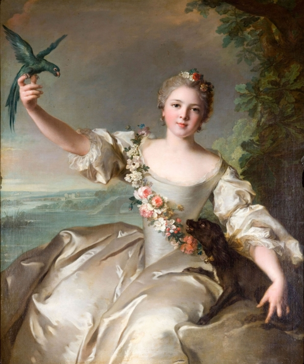 Portrait of Mathilde de Canisy, Marquise d'Antin, by Jean-Marc Nattier, (1738).