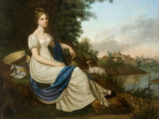 (Portrait of Olimpia Łosiowa, 1818-1820.)