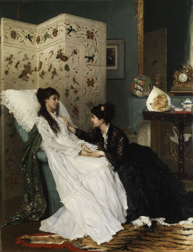 The Convalescence by Gustave Léonard de Jonghe.