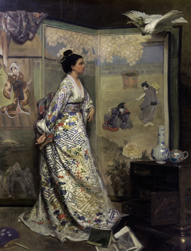 The Japanese Fan by Gustave Léonard de Jonghe.