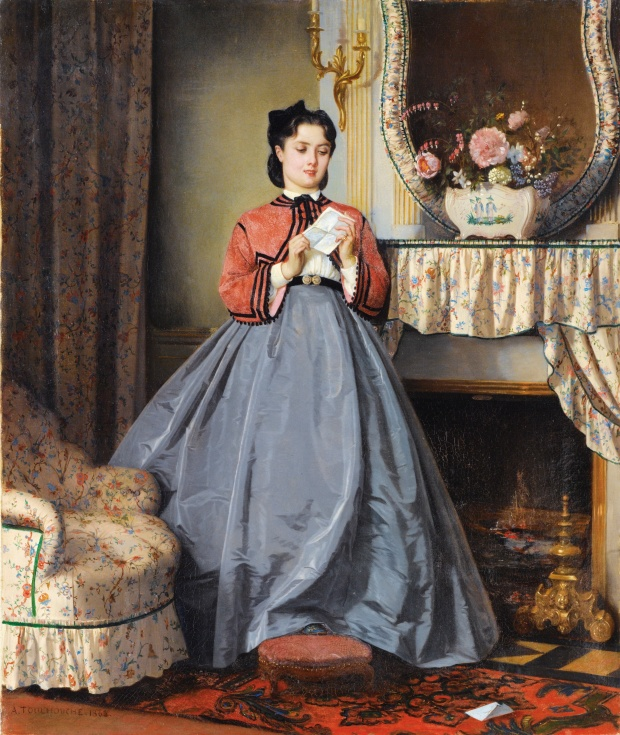 The Love Letter by Auguste Toulmouche, 1863.