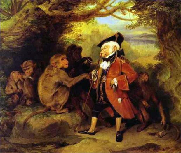 The Monkey Who Had Seen the Word by Edwin Henry Landseer, 1827.