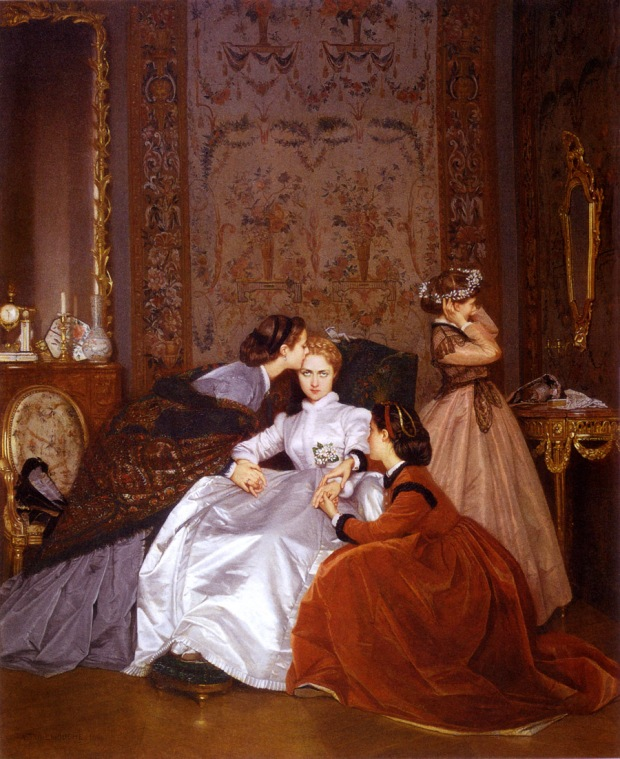 The Reluctant Bride by Auguste Toulmouche, 1865.