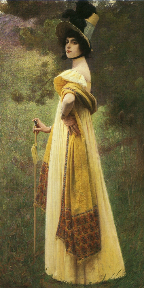 The Shawl by Charles Sprague Pearce, 1900.