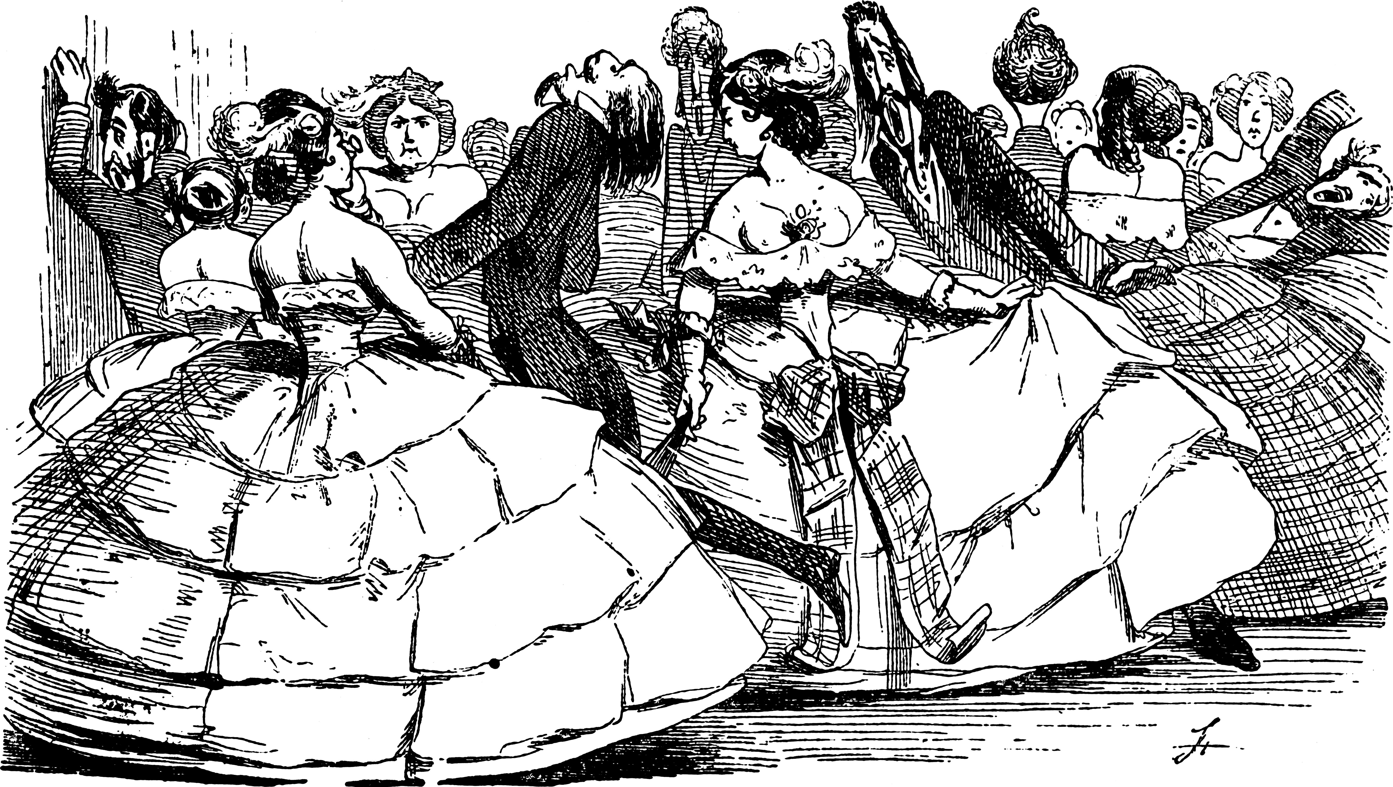 Caricature Of Men Being