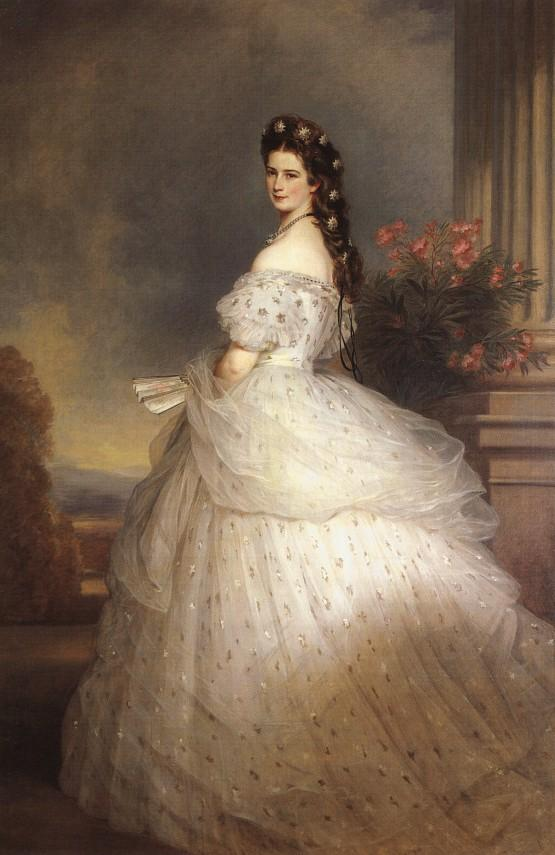 Empress Elisabeth of Austria with Diamond Stars on her Hair by Franz Xaver Winterhalter, 1864.