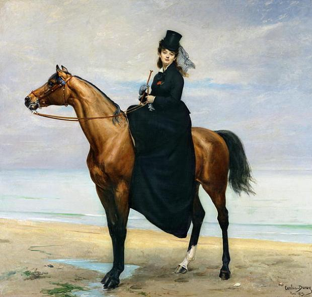 Equestrian Portrait of Mademoiselle Croizette by Carolus-Duran, 1876.