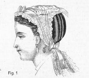 Harpers Bazaare 1867 Dress Cap