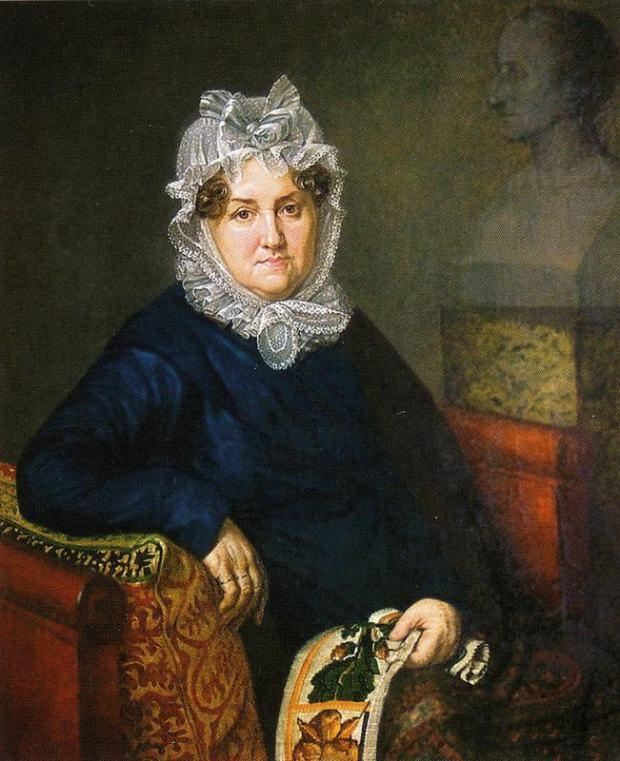Portrait of Elizaveta Olenina by Alexander Varnek, 1820.