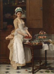 The Cherry Girl by Joseph Caraud, 1875.