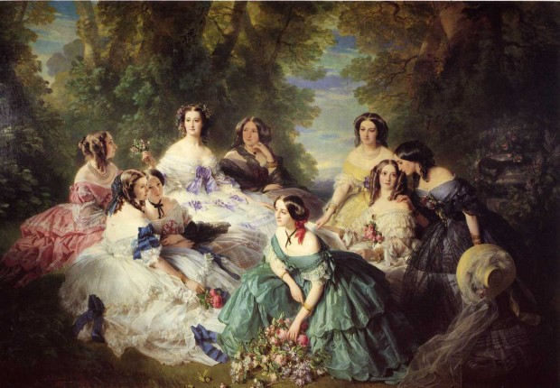 The Empress Eugénie Surrounded by her Ladies in Waiting by Franz Xaver Winterhalter, 1855.