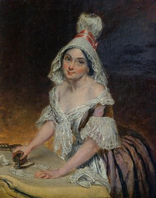 The Ironing Maid by Thomas Harrington Wilson, 19th century.