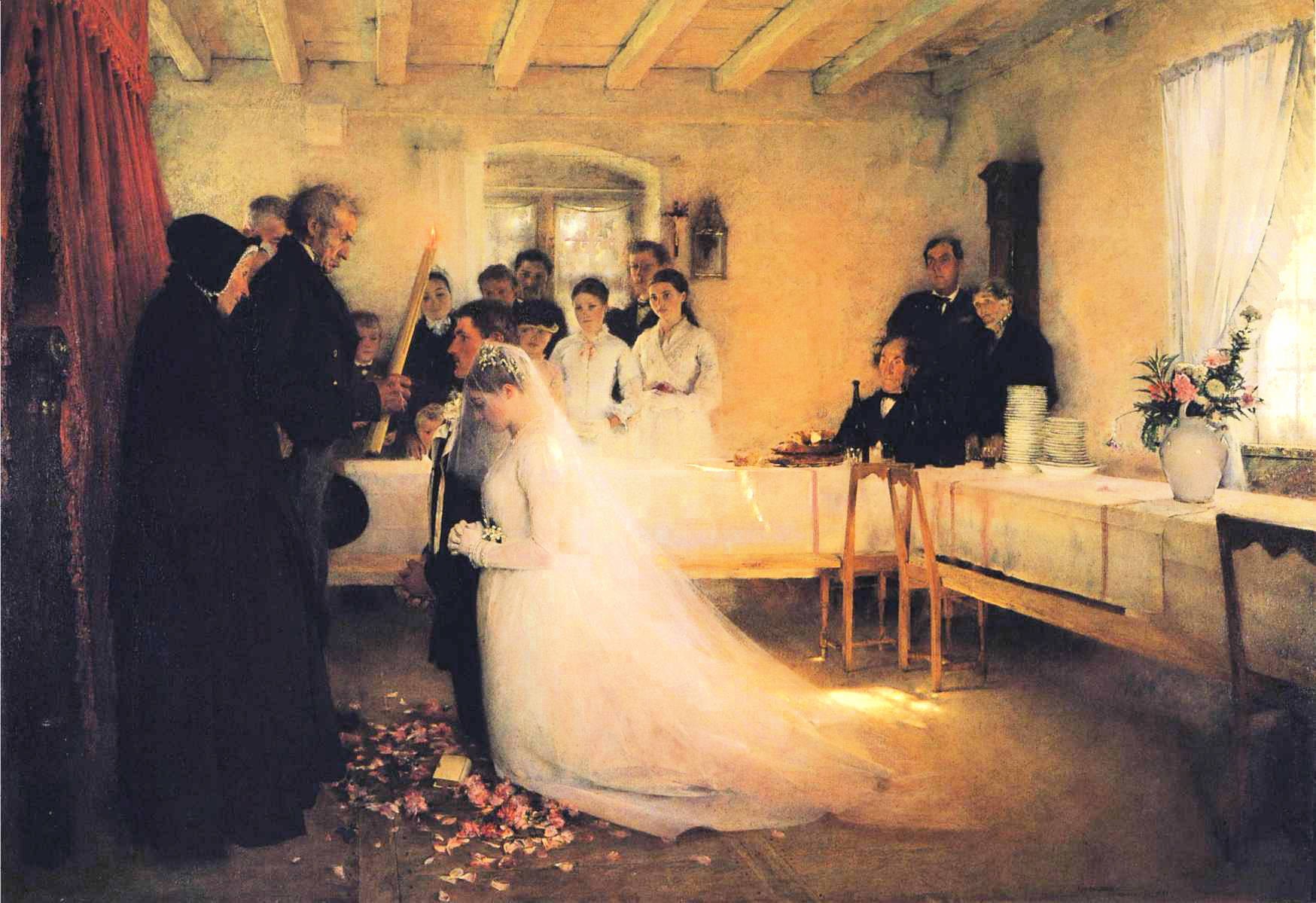 th century marriage manuals advice for young husbands mimi blessing of the young couple before marriage by pascal dagnan bouveret 1880 81