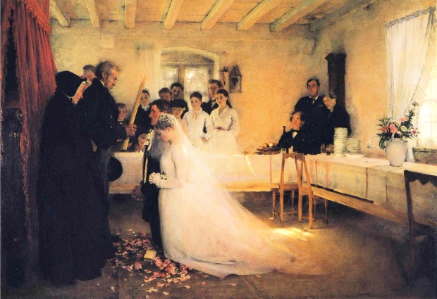 Blessing of the Young Couple Before Marriage by Pascal Dagnan-Bouveret, 1880-81.