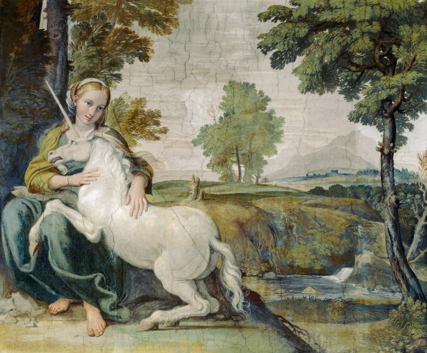The Maiden and the Unicorn by Domenichino, 1602.