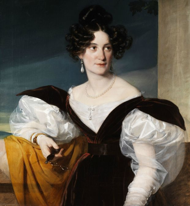 Lady with Lorgnette by Unknown Artist, 1830s.