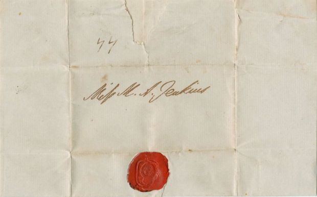 Letter to Miss J. from the Duke of Wellington.(Image Courtesy of Digital Scholarship Services at Fondren Library, Rice University.)