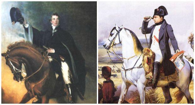 Napoleon and Wellington on Horseback