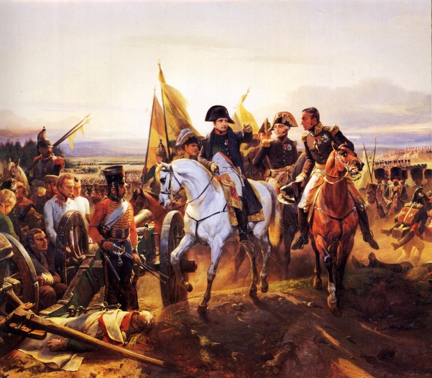 Napoleon at the Battle of Friedland by Horace Vernet, 1809.