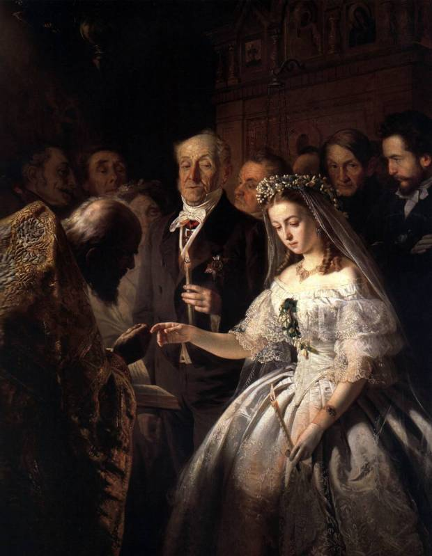 The Arranged Marriage by Vasili Pukirev, 1861.