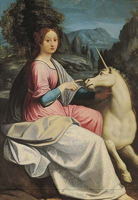 The Lady and the Unicorn by Luca Longhi, 16th Century.