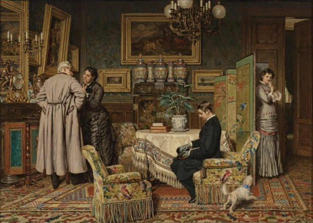 The Marriage Proposal by Evert Jan Boks, 1882.