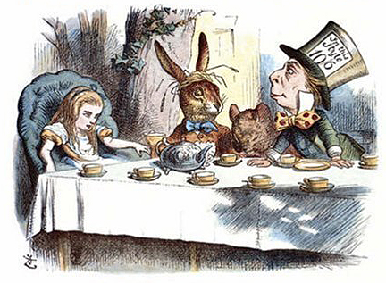 Alice's Mad Tea Party by John Tenniel, 19th Century.