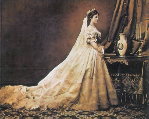 Photo of Empress Elisabeth of Austria by Emil Rabending, 1866.