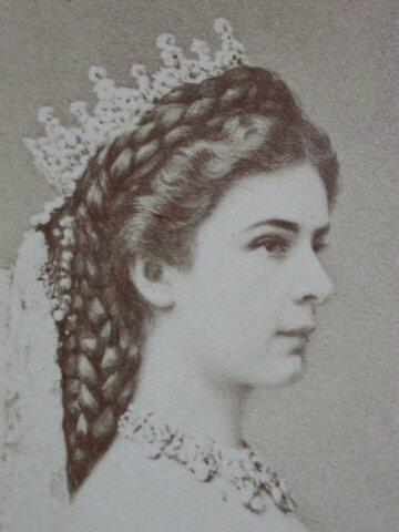 Photo of Empress Elisabeth of Austria by Emil Rabending, 1867.