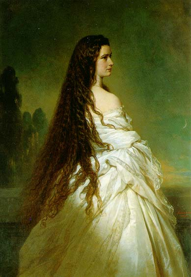 Empress Elisabeth of Austria by Franz Xaver Winterhalter, 1864.