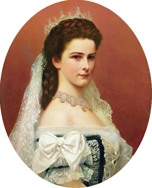 Empress Elisabeth of Austria by Georg Raab, 1867.