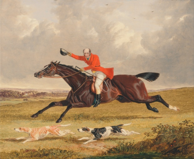 Foxhunting: Encouraging Hounds by John Frederick Herring, 1839.