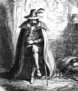 Guy Fawkes in Ordsall Cave by George Cruikshank, 1839.