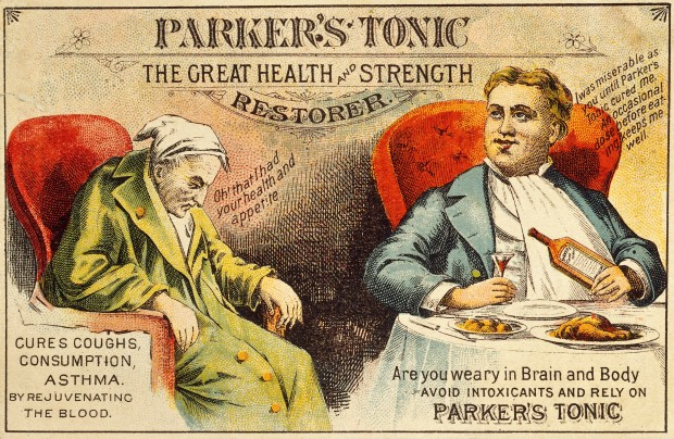 Parker's Tonic Advertisement ,1850-1850.(Image Courtesy of The Wellcome Library, CC 4.0.
