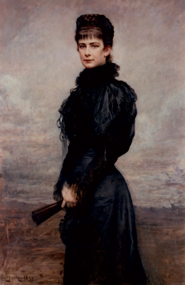Posthumous Portrait of Empress Elisabeth of Austria by Leopold Horowitz, 1899.
