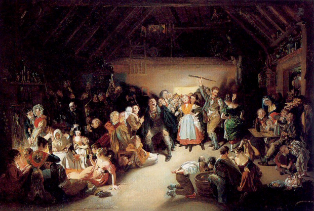 Snap-Apple Night by Daniel Maclise, 1833.