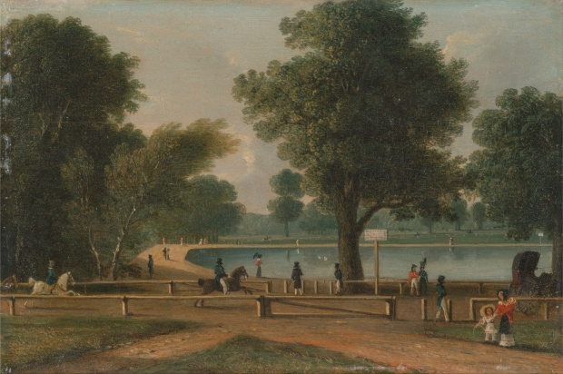 The Serpentine, Hyde Park by George Sidney Shepherd, mid-19th century.