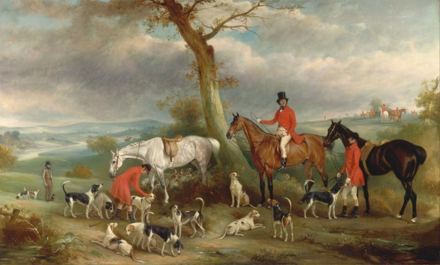 Thomas Wilkinson, M.F.H., with the Hurworth Foxhounds by John Ferneley, 1846.