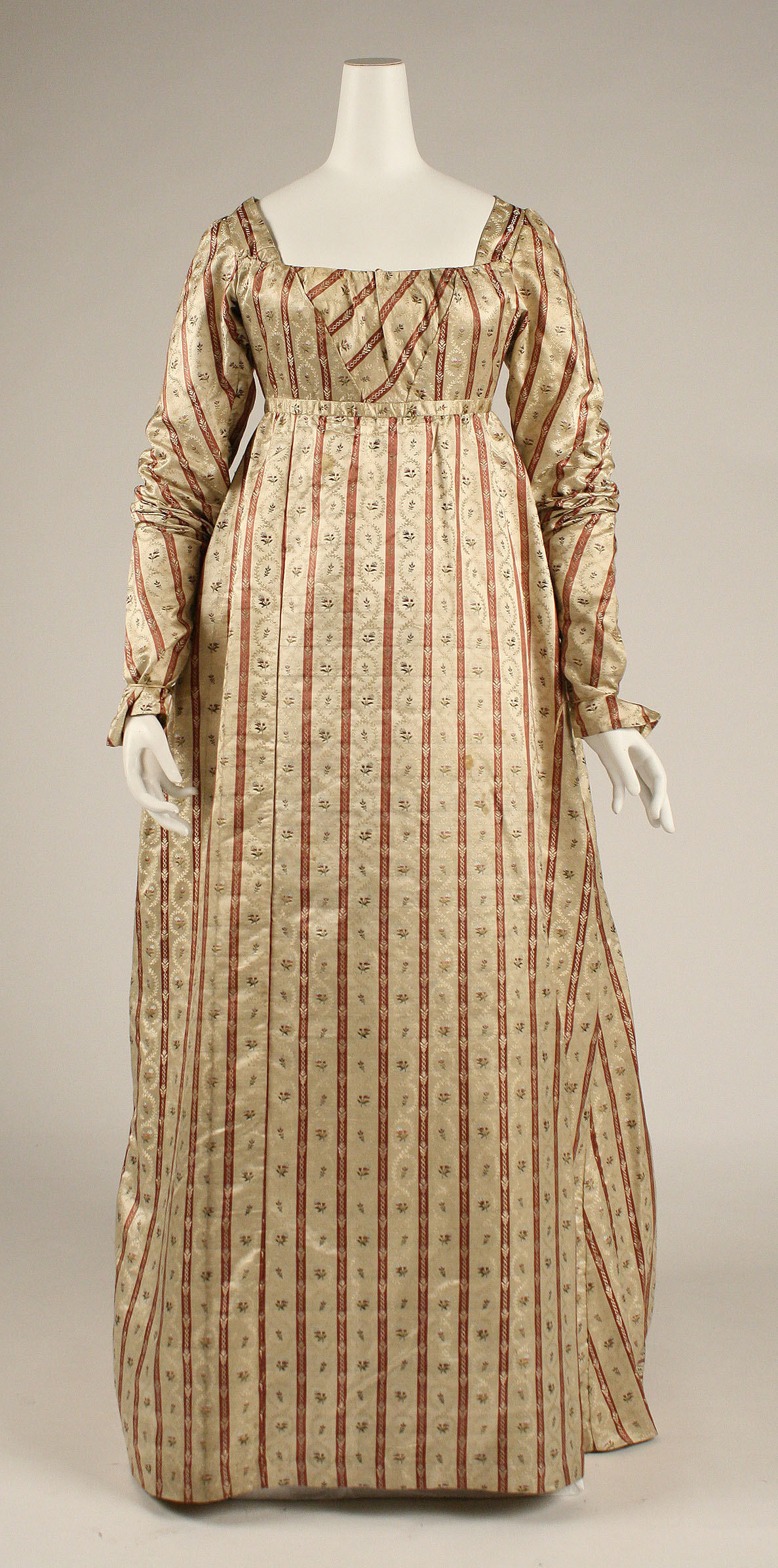 1800 British Silk Dress.(Image via Met Museum) & The Evolution of the 19th Century Gown: A Visual Guide | Author Mimi ...