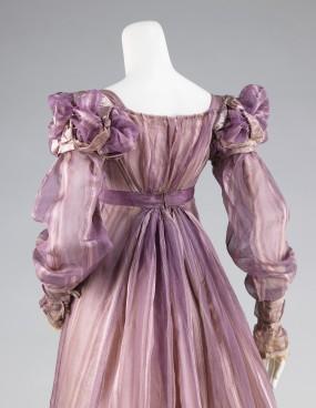 1820 American Silk Ball Gown.(Image via Met Museum)