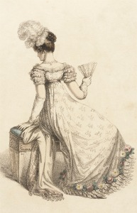 Evening Dress, 1820.(Ackermann's Plate via LACMA.)