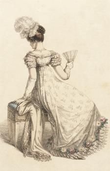 Evening Dress, 1820.(Ackermann's Plate via LACMA.)