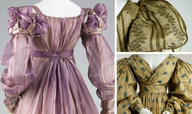 1820s Gowns Collage