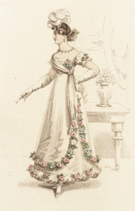 1821 Ball Dress.(Image via LACMA.)