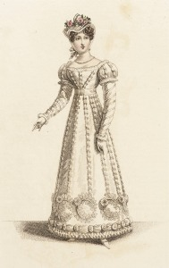 1821 French Dinner Party Dress.(John Bell Fashion Plate.)